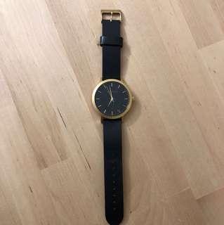 Minimal The 5th Black & Gold Watch