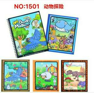 MAGIC WATER DRAWING COLOURING BOOK (READY STOCK)