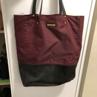 Rebecca Minkoff Burgundy and black tote