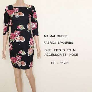 Floral Black Dress Office / Party wear