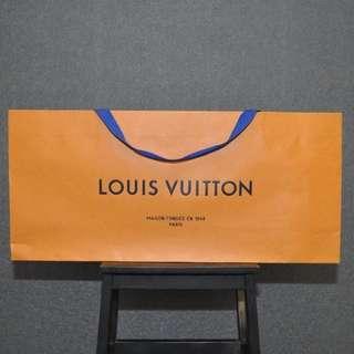 Louis vuitton paper bag packing package original authentic lv kotak box