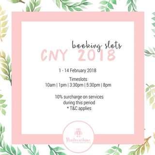 CNY Booking Slots