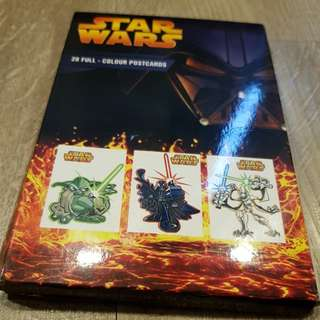 Starwars cartoon post cards