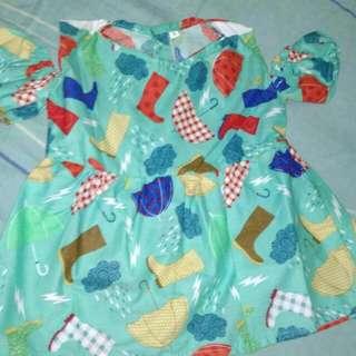 Dress sabrina untuk batita