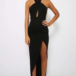 Peppermayo Long black party dress