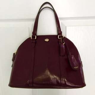 Burgundy Coach Purse