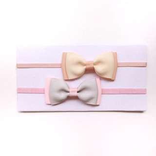 2x Sweet Bow Headbands