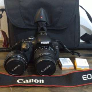 Canon EOS 600D with two lens 18-55mm and 50mm for sale