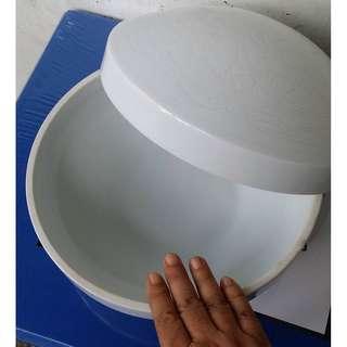 antique vintage repro White (celadon?) Bowl with cover