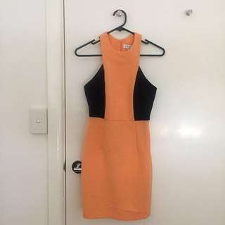 Shona Joy Size 6 Colour Block Dress