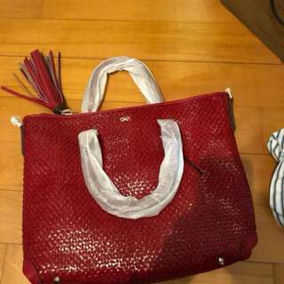 Anya Hindmarch 2 Way Red Huxley Tote Bag Perfect for New Year