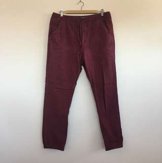 Factorie maroon trackie chinos size XL