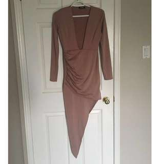 MISSGUIDED mauve dress