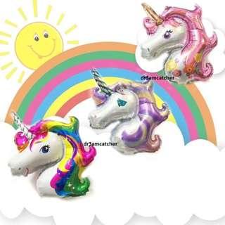 3 colours! Huge Unicorn Balloons