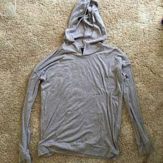 Forever 21 brown/ nude hooded jumper