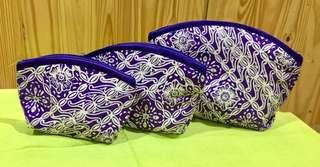 Pouch motif batik 3 in 1