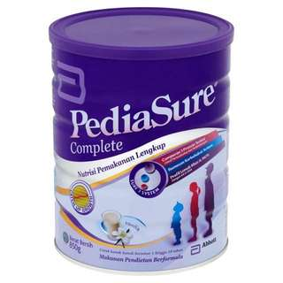 PEDIASURE VANILLA MILK POWDER 850g x 3 Tins $105 INCLUDING FREE DELIVERY MADE IN SINGAPORE FOR MALAYSIA