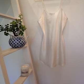 Silk White Slip Dress