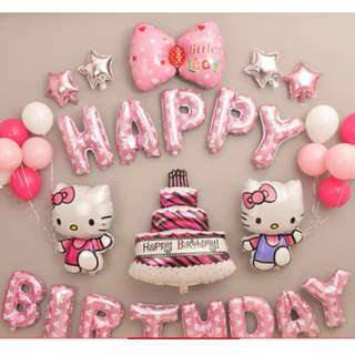 (Restock)Hello Kitty Theme Party Decoration set