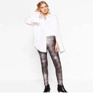 Zara metalic trouser