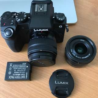 PANASONIC G7 with Leica lens