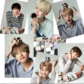 BTS VT New Year Message Postcard