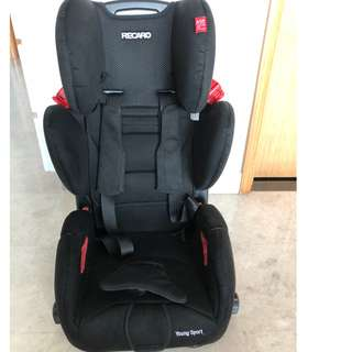 RECARO YOUNG SPORT CAR SEAT - Black (9months - 12 yrs old)