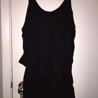 Black off shoulder baby doll dress small