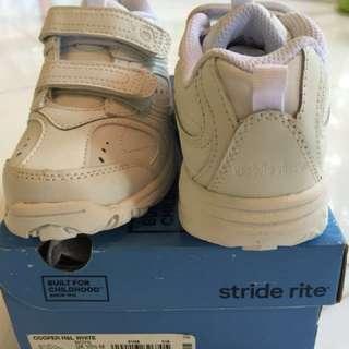 Stride Rite white school shoes