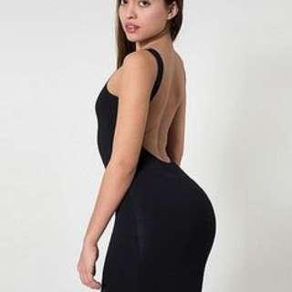 American Apparel low back shiny dress