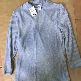 """""""Now"""" Ribbed Turtle Necked 7/8 Long Sleeve Top"""
