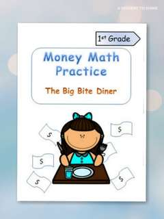"♡Highly Recommended♡ Money Math Practice ""The Big Bite Diner"" - pdf"