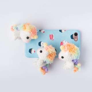 Picomaru the Baby Rainbow Unicorn Amigurumi Pattern & Kit