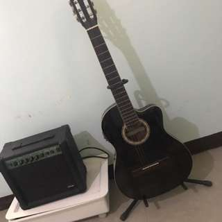 Guitar,stand and ampli