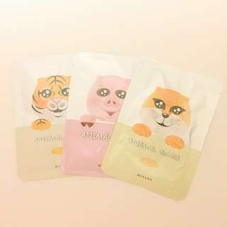 MISSHA Korean Animal Face Masks