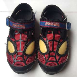 Stride rite Spiderman sandal shoes with light