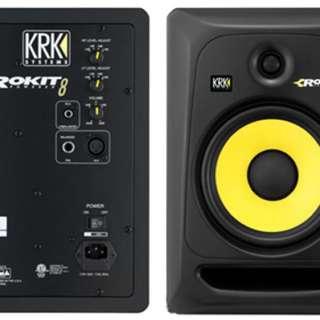 KRK Rokit 8 RP8G3 八吋主動式監聽喇叭(一對)