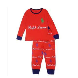 Ready Stock Twinson Polo Red Smart Pyjamas