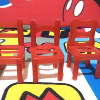 Red chair set 2