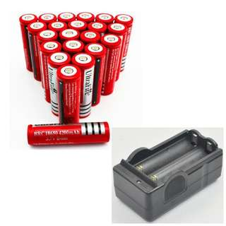18650 Rechargeable Battery + Charger