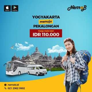 Promo Tiket Travel Jogja - Pekalongan Hanya 110rb di Aplikasi Nemob.id