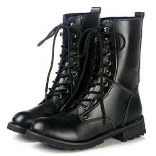 重要!此商品臨時找不到,請勿下標!〘Freedom美夢〙37號 黑色 馬靴 中筒靴 中統靴 機車靴 歐美