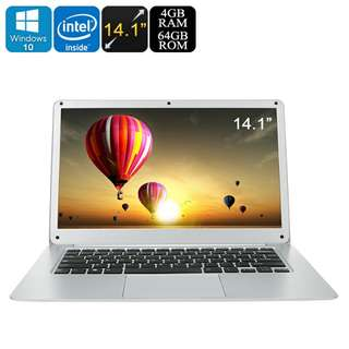T-Bao Tbook Pro 14.1 Inch Notebook - Win 10, 4GB RAM, X5-Z8350 Quad Core CPU, Full HD, HDMI, 64GB Memory, Micro SD, 8000mAh (CVAGH-140009)