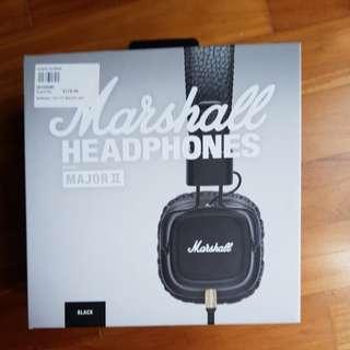 Marshall Major II Headphone (Black)