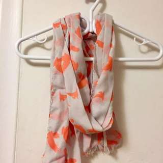 Orange eagle scarf