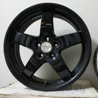 "Oettinger RE 18"" Black Rims PRICED TO SELL"
