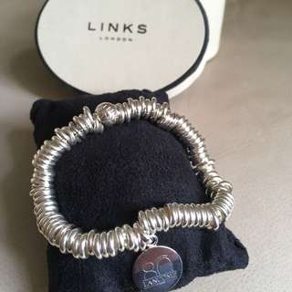 Links London silver charm bracelet (Lancôme crossover)