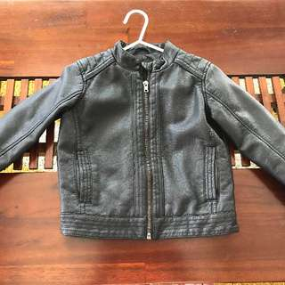 Leather Jacket (Target) Size Suits For 2 -3 Years Old Kid