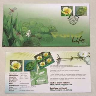 FDC First Day Cover - Singapore 2012 - Pond Life Stamps