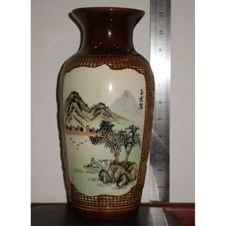Rare Chinese Antique vase with multiple designs and prosperity messages,